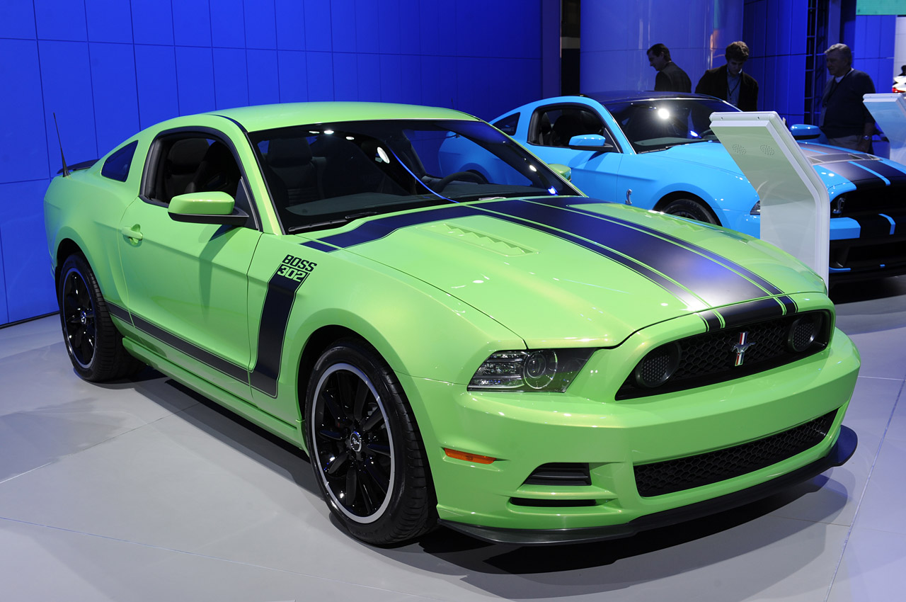 2013 Mustang Boss 302 Brothers Performance Warehouse 2014 Ford 302s Green Debuts At The 2012 Detroit Auto Show Today