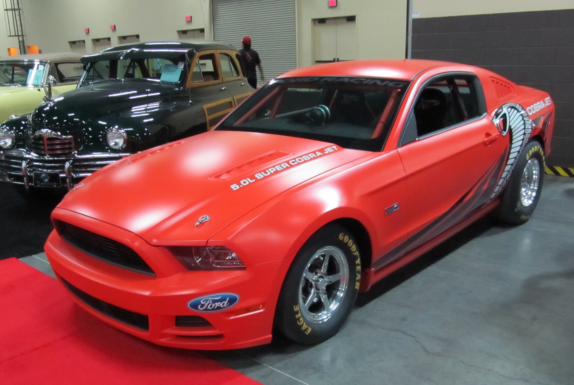 2014 ford racing cobra jet mustang sells at auction brothers performance warehouse. Black Bedroom Furniture Sets. Home Design Ideas